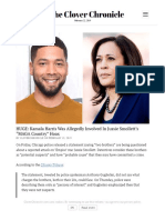 Q HUGE_ Kamala Harris Was Allegedly Involved in Jussie Smollett's _MAGA Country_ Hoax - The Clover Chronicle