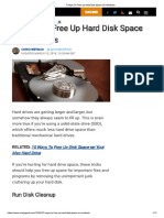 7 Ways to Free Up Hard Disk Space