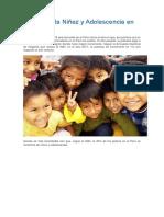 Estado de La Niñez y Adolescencia en El Perú