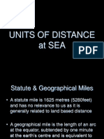 Units of Distance at Sea