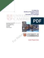 CIC BIM Protocol University of Cambridge