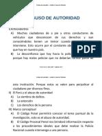 INTEGRADOR 2 - ToRIBIO CONDE, Henry Niel - Abuso de Autoridad - UNIDAD 2 - Derecho Penal y Procesal Penal