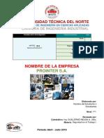 Modelo Presentación de Trabajos