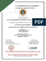 Internship Report - Yashaswin Mayya
