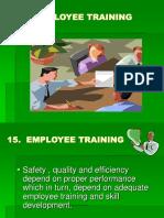 12. Employee Training