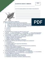 2014- II Bimestre-evaluación de Ciencia y Ambiente