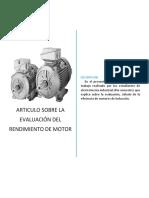 Evaluación Del Rendimiento de Motor - ARTICULO
