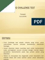 Fluid Challenge Test