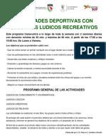 Plan de Actividades Deportivas Del 16 Al 20 de Junio de 2014