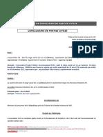 Conclusions Partie Civiles