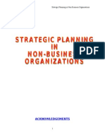 Strategic Planning in Non Profit Organizations