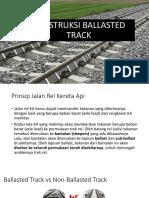 Konstruksi Ballasted Track