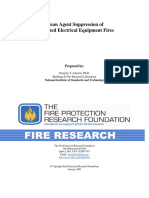 NFPA Research Report - Clean Agent Ener Elec Equip Fires - 2009