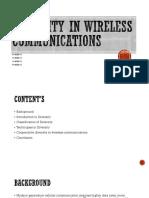 Diversity in Wireless Communications