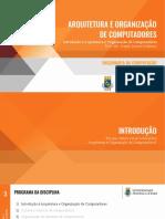 01 - Introdução à Arquitetura e Organização de Computadores.pdf