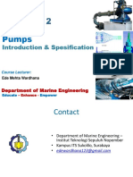 Pumps Introduction & Spesification