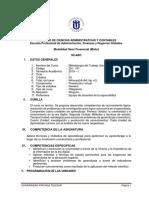 Silabo 2019 Metodología Del Trabajo Universitario