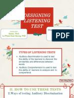 Designing Listening Test