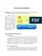 Evaporation and Transpiration