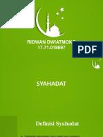 Ppt Syahadat Pendidikan Agama Islam ( Ridwan Ddwiatmoko