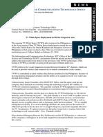 TV Whitespace DICT Press Release Pilot in PH