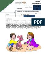 Derecho Del Niño y Del Adolescente