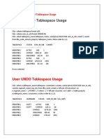 How to Check UNDO Tablespace Usage