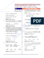 Maths Paper With Answer Evening