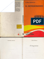 El Bergsonismo-Gilles Deleuze