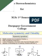 Static Stereochemistry (1)