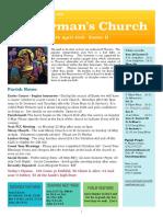 st germans newsletter - 28 april 2019 -  easter ii