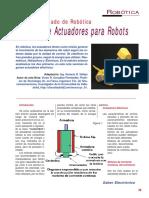 SE238 Lección 06 Tipos de Actuadores Para Robots