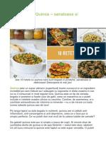10 Retete Cu Quinoa – Sanatoase Si Delicioase!