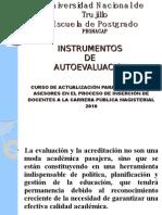 INSTRUMENTOS DE AUTOEVALUACION