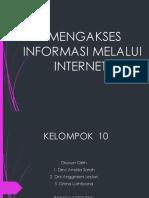 Mengakses Informasi Melalui Internet