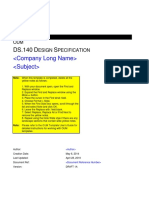 Ds-140 Design Specification Test