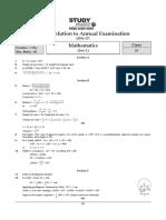 Class 9 Term 2 Maths Sample Paper Solution