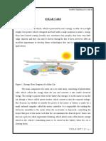 Solar Cars the seminar report