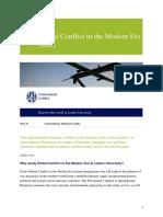 Global Conflict in the Modern Era (MA)-En