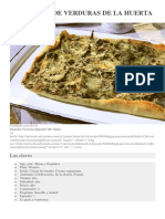 Tarta Fina de Verduras de La Huerta de Federica Babanelli
