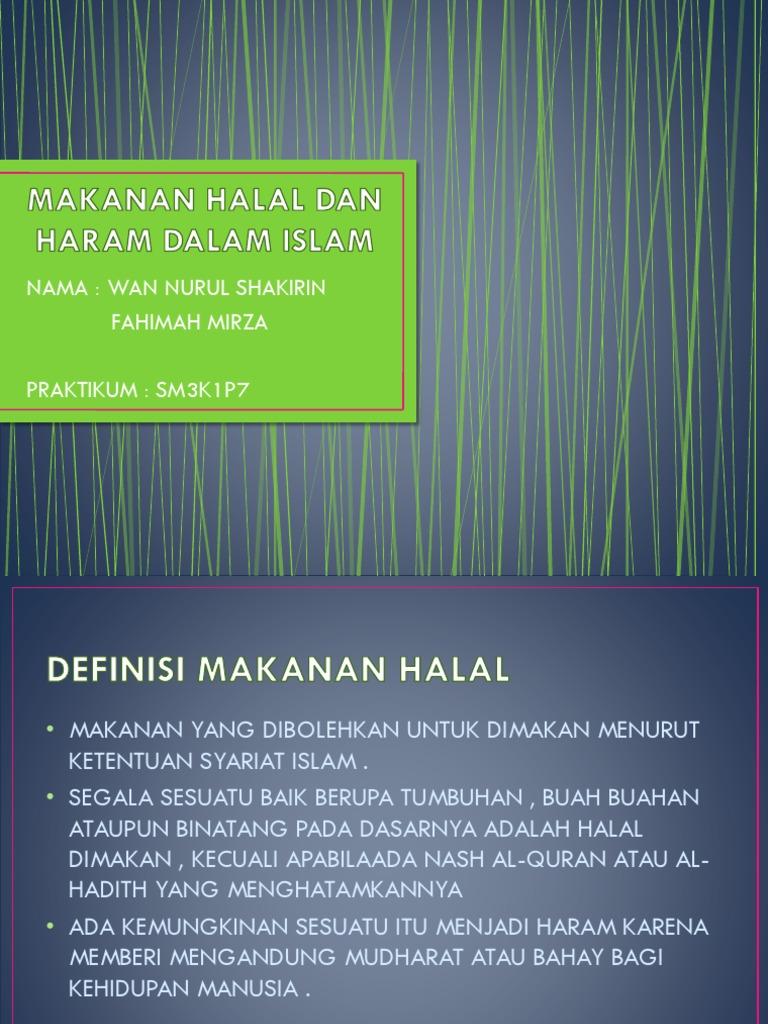 Makanan Halal Dan Haram Dalam Islam