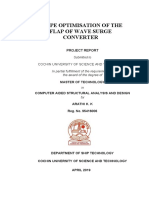 shape optimisation of wave surge converter