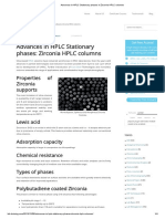 Advances in HPLC Stationary Phases in Zirconia HPLC Columns