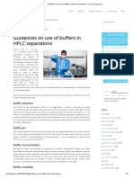 Guidelines on Use of Buffers in HPLC Separations - Lab-Training.com