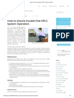 How to Ensure Trouble-free HPLC System Operation
