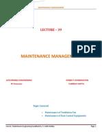 Maintenance Management 39