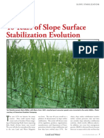 40 Years of Slope Surface Stabilization