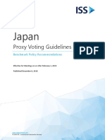 Japan Voting Guidelines