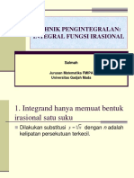 Integral Fungsi Irasional