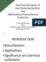 Biosurfactant by Pseudomonas